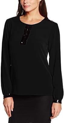 Gina Bacconi Women's Sequin Trim Crepe Long Sleeve Tops, ), )