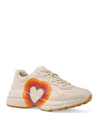 Gucci Interlocking G/Heart Leather Sneakers