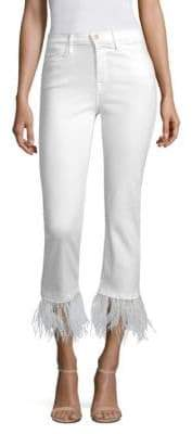 Frame Le High Straight-Leg Feather Jeans