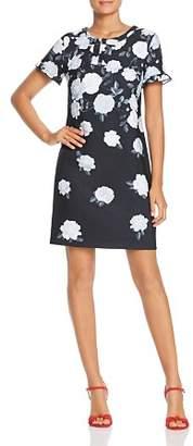 Karl Lagerfeld Paris Rose Print Shift Dress