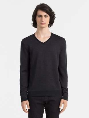 Calvin Klein slim fit contrast v-neck sweater