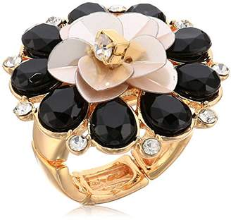 GUESS Ring Update Women's Sequin Flower Cocktail Ring