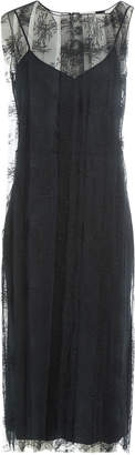 Nina Ricci Slip Dress with Lace Overlay