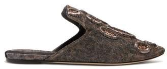 Sanayi 313 - Muren Metallic Leopard Backless Loafers - Womens - Leopard