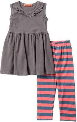 Funkyberry Sleeveless Top & Stripe Pants Set (Toddler & Little Girls)