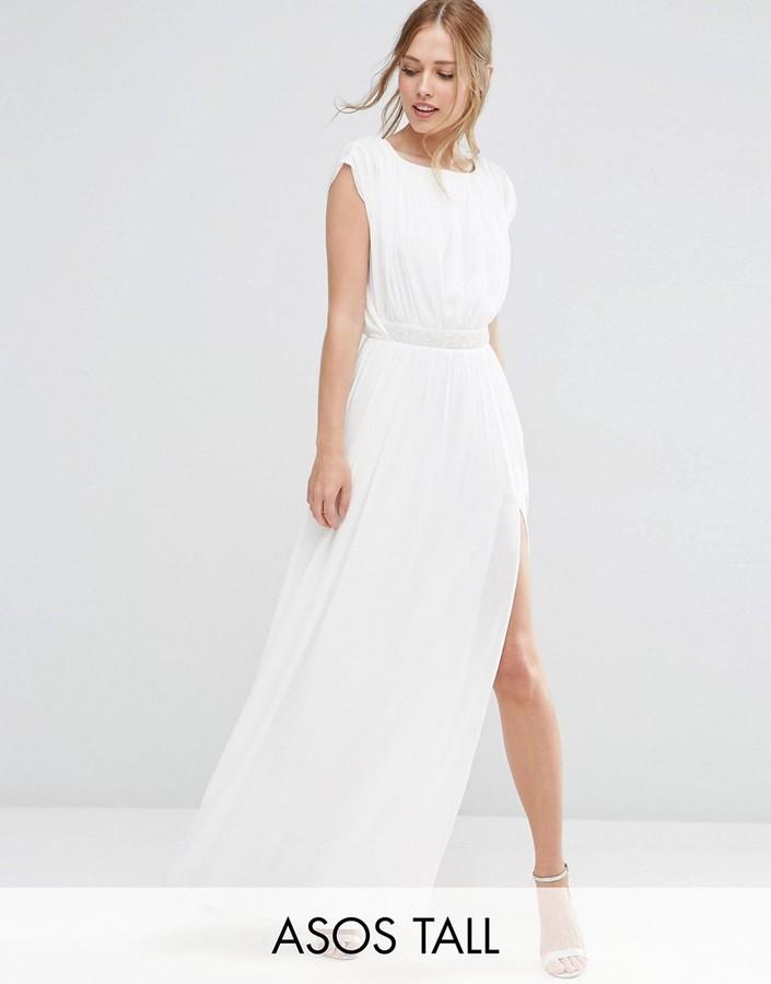 ASOS Tall ASOS TALL Embellished Waist Maxi Dress