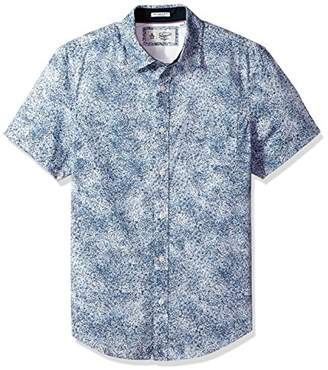 Original Penguin Men's Short Sleeve Spray Print with Stretch Shirt