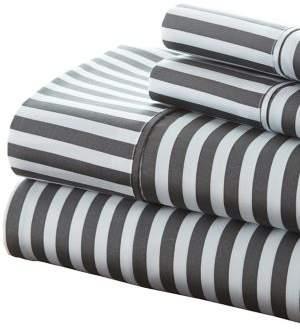 Blissful Bedding Premium Ultra Soft Ribbon Four-Piece Bed Sheet Set