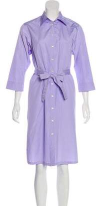 Thomas Pink Collared Button-Up Dress