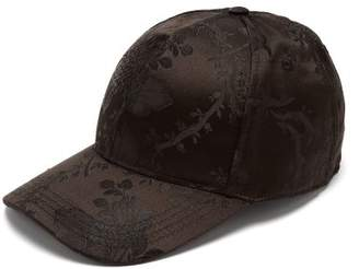 Dolce & Gabbana Floral Jacquard Baseball Cap - Mens - Black