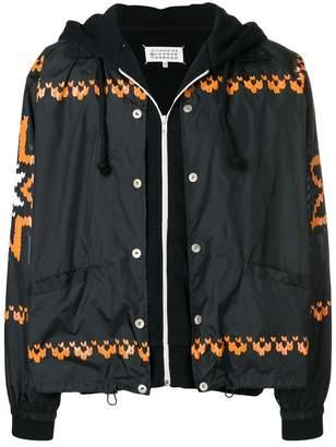 Maison Margiela layered zip jacket