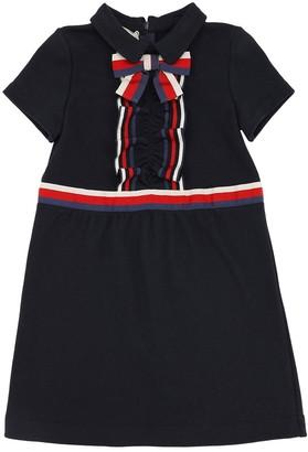 Gucci COTTON SWEATER DRESS W/ BOW DETAIL