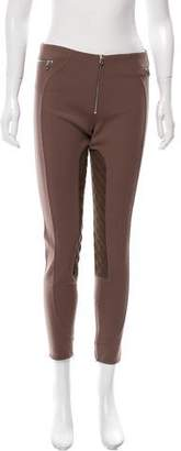 Marc Jacobs Suede Leather-Accented Mid-Rise Pants