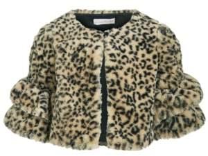 Bonnie Jean Little Girls Animal-Print Faux-Fur Jacket