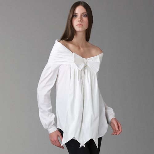 Jean Paul Gaultier Off-The-Shoulder Bow Blouse