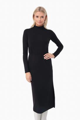 Vince Black Long Sleeve Turtleneck Dress