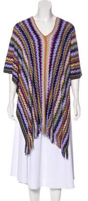 Missoni Abstract Pattern Poncho