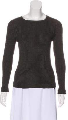 Akris Rib Knit Round Neck Sweater