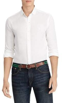 Polo Ralph Lauren Carpri Slim-Fit Mesh Knit Shirt