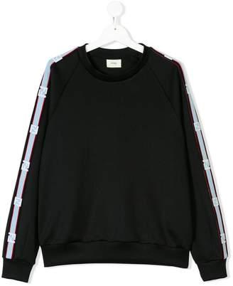 Fendi Teen logo panel sweatshirt