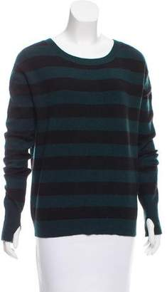 Pam & Gela Striped Scoop Neck Sweater