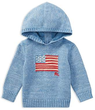 Ralph Lauren Boys' Knit Flag Hoodie - Baby