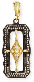 Armenta Old World Scalloped Rectangle Crivelli Enhancer with Diamonds