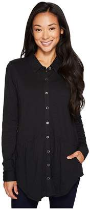 Mod-o-doc Slub Jersey Button Front Pocket Shirt Women's Clothing