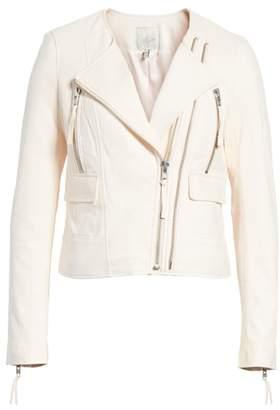 Joie 'Vivianette' Leather Moto Jacket