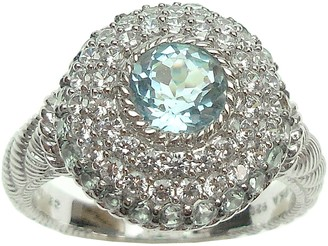 Judith Ripka Sterling Diamonique & Birthstone Ring