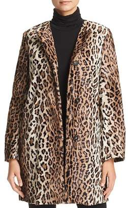 Marella Neuve Leopard-Print Faux-Fur Coat - 100% Exclusive