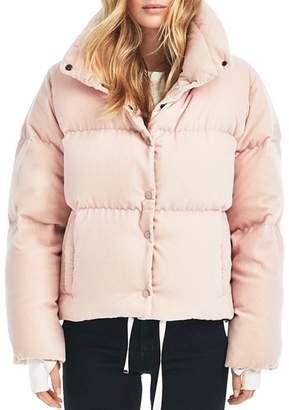 SAM. Sophia Velvet Puffer Coat