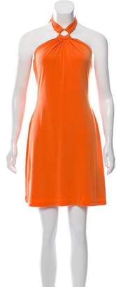 Calvin Klein Collection Knee-Length Halter Dress