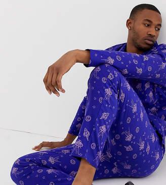 Asos Design DESIGN pyjama set in space design