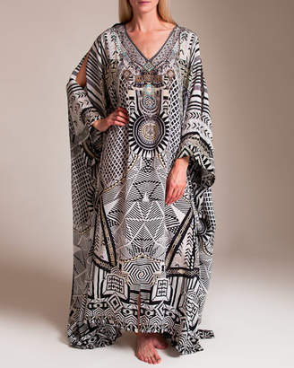 Camilla Hanging Around Split Front and Sleeve Kaftan