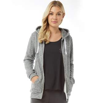 Animal Womens Changing Tides Zip Through Hoody Grey Marl