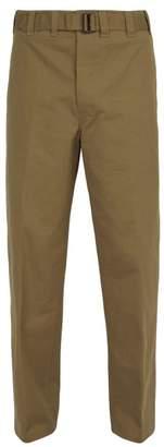 Lemaire Straight Leg Cotton Trousers - Mens - Beige