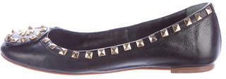 Tory Burch Tory Burch Studded Leather Flats