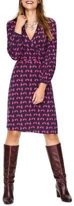 Boden Elodie Stretch Jersey Wrap Dress