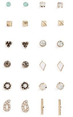 Women's Bp. 12-Pack Geometric Stud Earrings $19 thestylecure.com