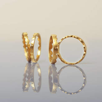 Leila Swift 18ct Gold Scalloped Stacking Rings