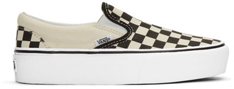 Vans Black and White Checkerboard Classic Slip-On Sneakers