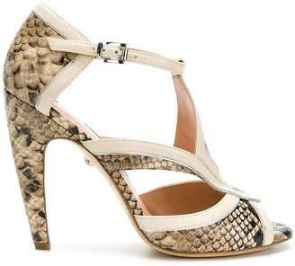 Just Cavalli snakeskin effect sandals