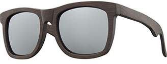 Earth Wood Hampton Polarized Wayfarer Sunglasses