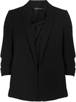 Dorothy Perkins Womens Black Ruched Sleeve Jacket