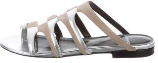 Pierre Hardy Metallic Slide Sandals