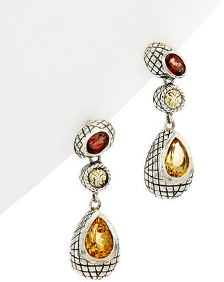 Candela Andrea Pavo Real 18K & Silver 3.46 Ct. Tw. Garnet & Citrine Earrings