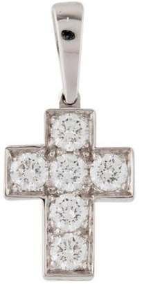 Cartier 18K Diamond Cross Pendant