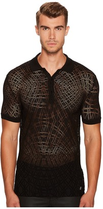 Versace Collection - Crochet Knit Polo Men's Clothing $295 thestylecure.com