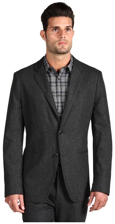 Theory Kris Stoneham Suit Jacket (Charcoal Multi) - Apparel